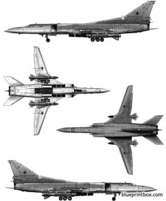 tupolev tu 22m2 backfre b model airplane plan