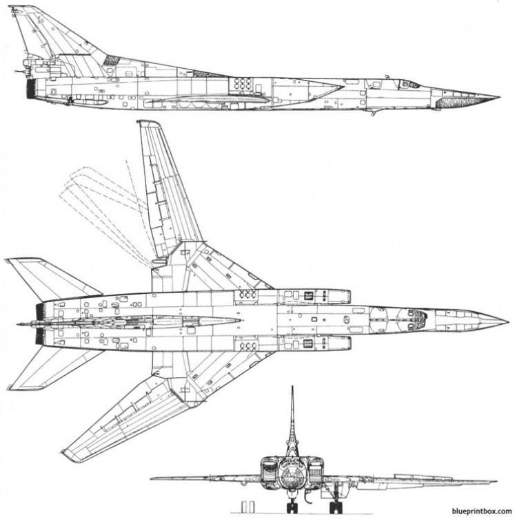 tupolev tu 22m3 backfire model airplane plan