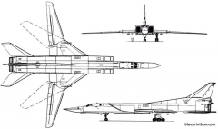 tupolev tu 22m 1977 russia model airplane plan