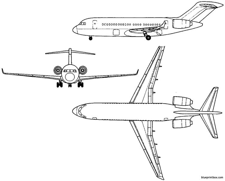tupolev tu 334 1999 russia model airplane plan