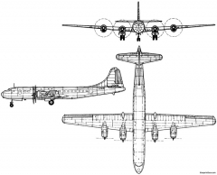 tupolev tu 70 1946 russia model airplane plan