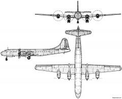 tupolev tu 70 1946 russia model airplane plan