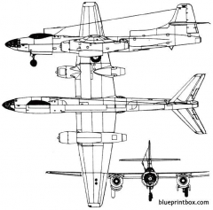 tupolev tu 73 1947 russia model airplane plan