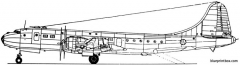 tupolev tu 75 1950 russia model airplane plan