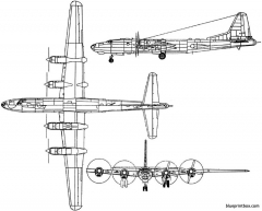 tupolev tu 80 1949 russia model airplane plan