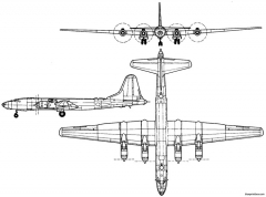 tupolev tu 85 1951 russia model airplane plan