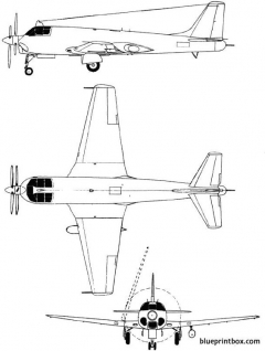 tupolev tu 91 1954 russia model airplane plan