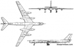 tupolev tu 95 bear model airplane plan