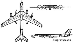 tupolev tu 95 bear 2 model airplane plan
