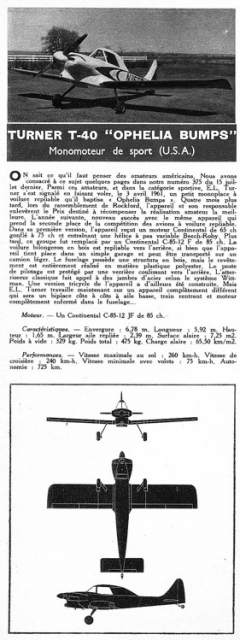 turner t40 model airplane plan