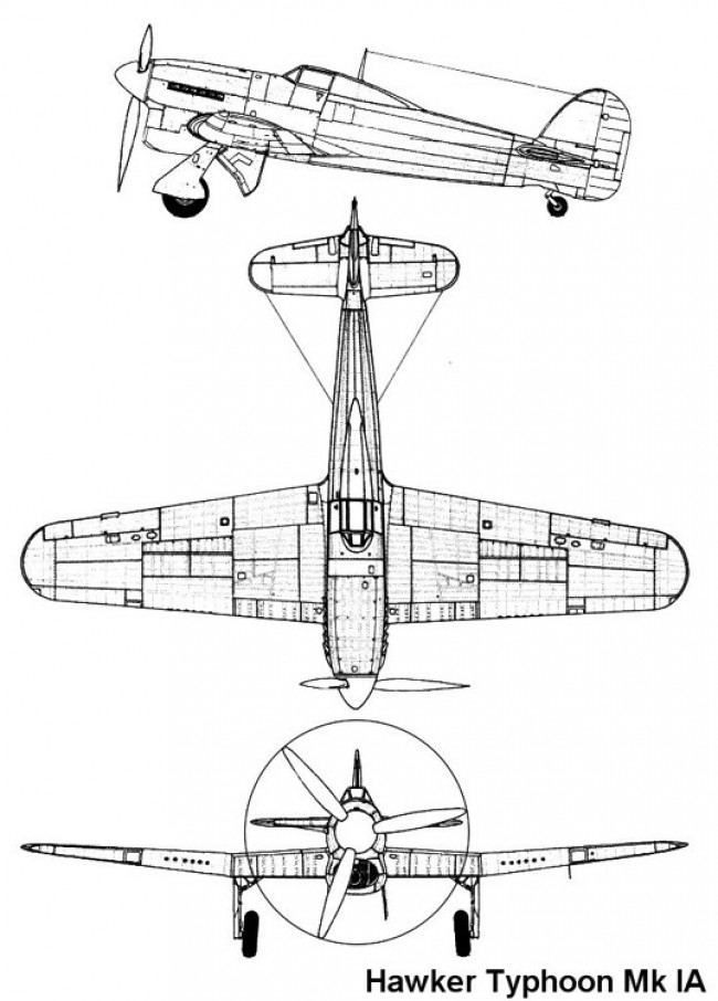typhoon1a 1 3v model airplane plan