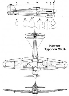 typhoon1a 2 3v model airplane plan