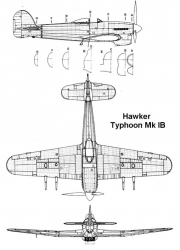 typhoon1b 2 3v model airplane plan