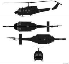 uh 1n iroquois model airplane plan