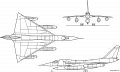 uh ac b 58 hustler model airplane plan