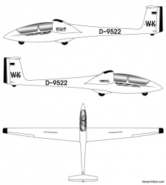 unknown aircraft 1 model airplane plan