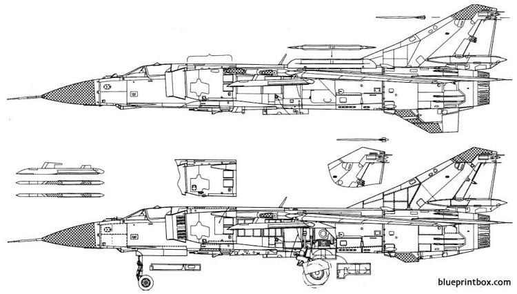 Mig-23 model airplane plan