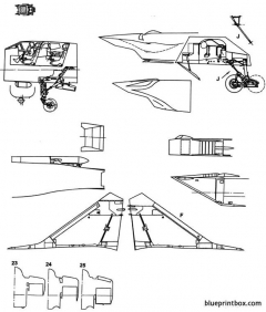 unknown jet plane 11 model airplane plan
