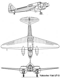 ut3 1 3v model airplane plan