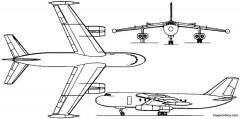 veb baade 152 1958 ddr model airplane plan