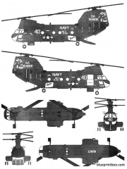 vertol ch 46d seaknight model airplane plan