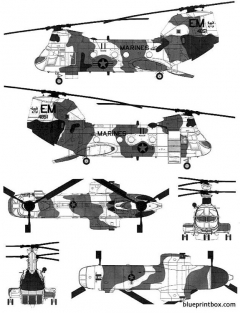 vertol ch 46e seaknight model airplane plan