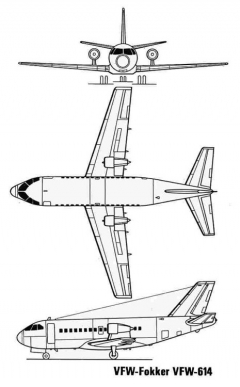 vfw614 3v model airplane plan