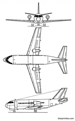 vfw 614 model airplane plan