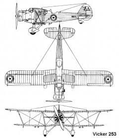 vickers253 3v model airplane plan
