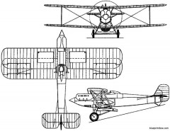 vickers 123 1926 england model airplane plan