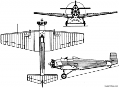vickers 125 vireo 1928 england model airplane plan