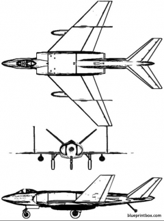 vickers 525 model airplane plan