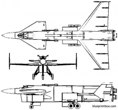 vickers 559 model airplane plan