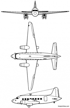 vickers 618 nene viking 1948 england model airplane plan