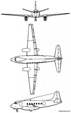 vickers 663 tay viscount 1950 england model airplane plan