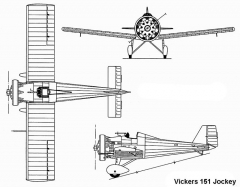 vickers jockey 3v model airplane plan