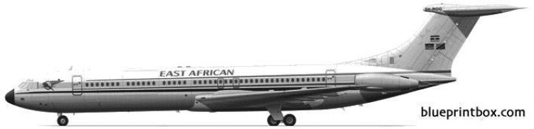 vickers super vc 10 model airplane plan