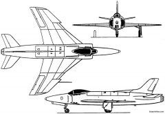 vickers supermarine 541 swift 541 model airplane plan