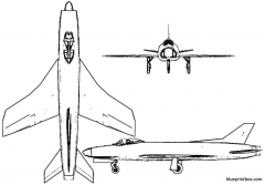 vickers supermarine 545 model airplane plan
