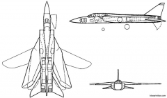 vickers supermarine 583 model airplane plan