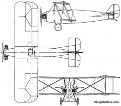 vickers vagabond 1924 england model airplane plan