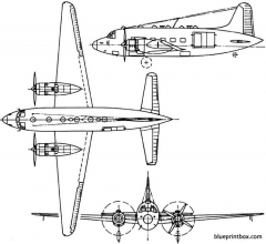vickers valetta 1947 england model airplane plan