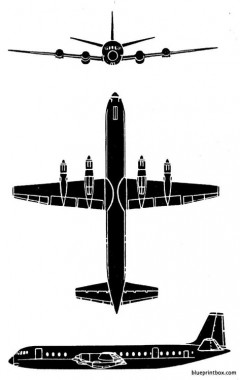 vickers vanguard model airplane plan