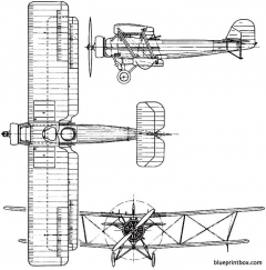 vickers vespa 1925 england model airplane plan