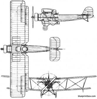 vickers vespa 1925 england model airplane plan