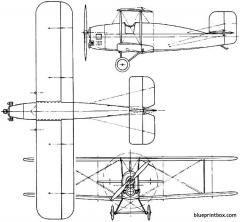 vickers viget 1923 england model airplane plan