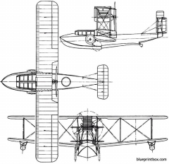 vickers viking 1919 england model airplane plan