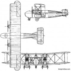 vickers vimy commercial 1919 england model airplane plan