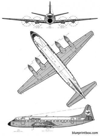 vickers viscount 800 model airplane plan