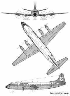 vickers viscount 800 2 model airplane plan